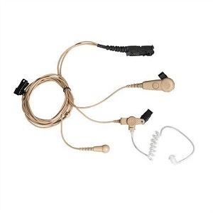 3 Wire Surveillance Earpiece Kits - Beige