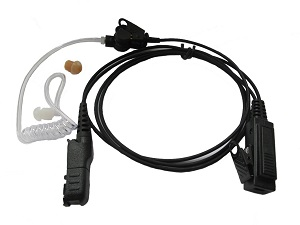 Generic DP3441e Earpiece 2 Wire Surveillance with trans tube, Blk