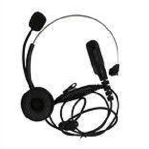 Lightweight Headset, Single Ear with Headband & In-Line PTT