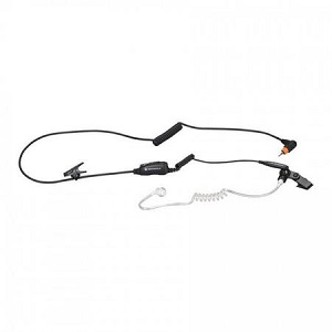 Surveillance earpiece with Mic and PTT Combined (Black)