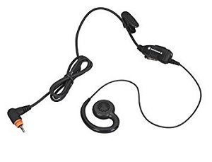 Swivel earpiece with in-line mic and PTT