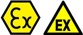 ATEX intrinsically safe symbol logo required for SOLAS Chapter II-2 compliant radios